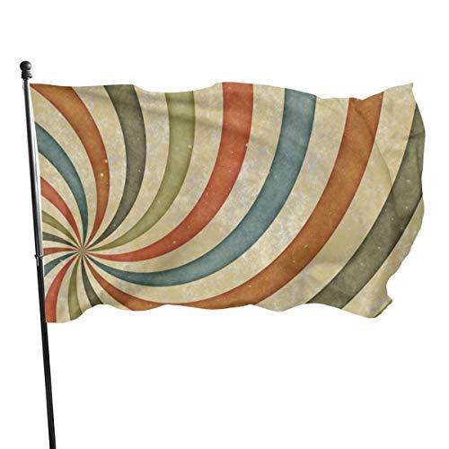 N/A Paint Whirlpool Farbe und UV-beständige Leinwand und doppelt genähte Nationalflaggen mit Messingösen, 90 x 1786 cm