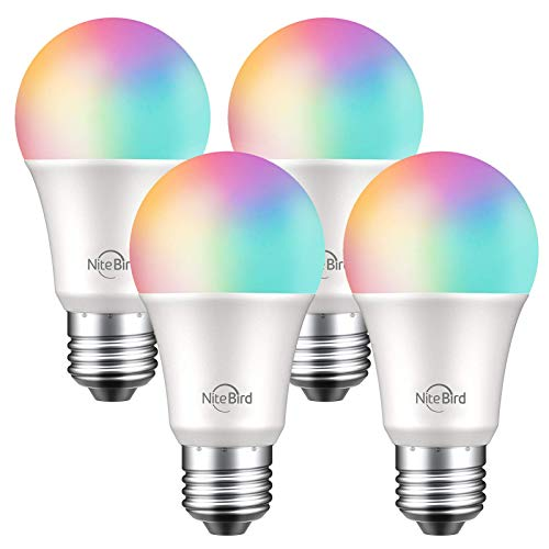 NiteBird Smart Light Bulbs Works with Alexa Echo and Google Home, WiFi Dimmable Color Changing LED...