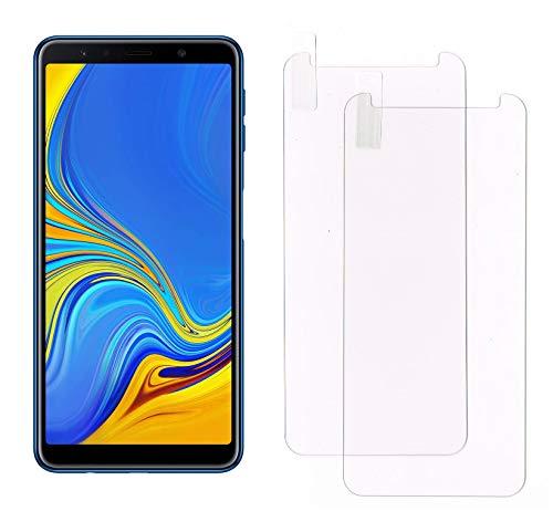 Smartphone Equipment [2er Pack] Panzerglas für Samsung Galaxy A7 2018, 9H Echtglas, Bildschirmschutz Panzerfolie Glasfolie Schutzfolie Glas Folie Bildschirm Schutz