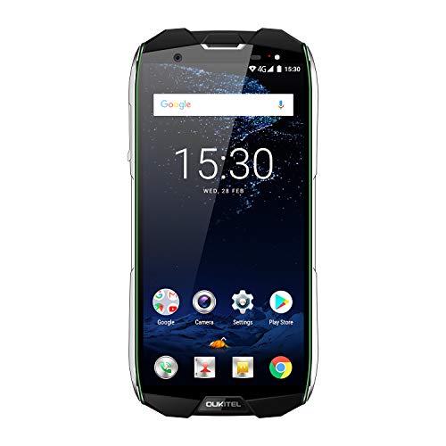 OUKITEL WP5000 Smartphone sbloccato, 5,7' 4G Telefono cellulare robusto, IP68 resistenza all'acqua e alla polvere, Android 7.1 Octa Core 6 GB 64 GB, 5200 mAh, fotocamera 16 MP + 5 MP + 8 MP, verde