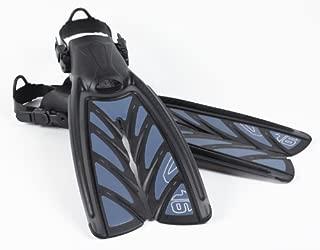 Oceanic Vortex V-16 Split Fins, Slate Blue, 5-7   XS