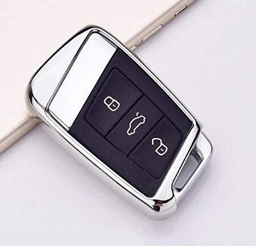 ATMASDO Cubierta protectora del coche de la cubierta de la llave del coche, para Skoda Superb A7 Volkwagen Passat B8 VW Golf Gte