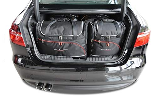 KJUST Dedizierte Reisetaschen 4 STK kompatibel mit Jaguar XF Limousine II 2015 -