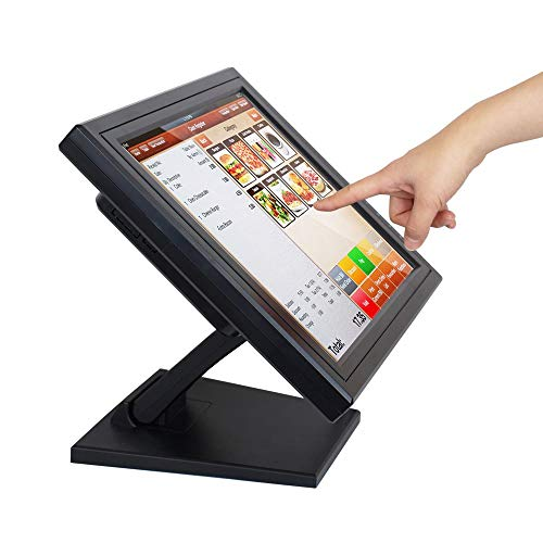 """17"""" Touch Screen LED Display Monitor, Cash Register VOD System POS Stand Restaurant VGA LED Touch Screen Monitor HD for Restaurant Cafe Kiosk Retail"""