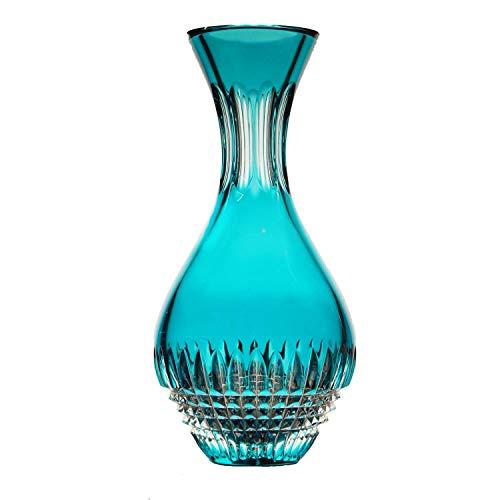 ARNSTADT KRISTALL Wasserkaraffe Empire Azur türkis blau (26,5 cm) Kristallglas mundgeblasen · handgeschliffen · Handmade in Germany