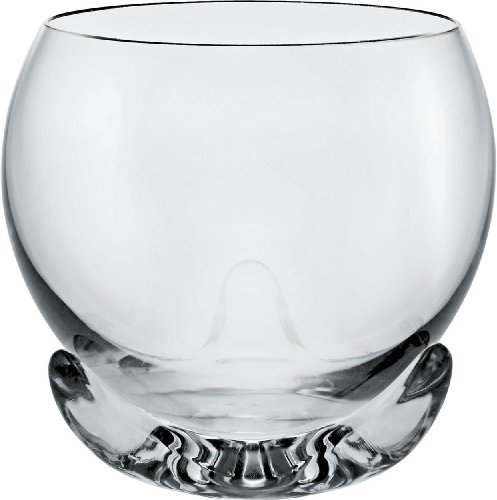 Alessi - FSY02/0 - Bettina Bicchiere per Vini Rossi in Vetro Cristallino con Base d'appoggio in Resina termoplastica - Set da 2