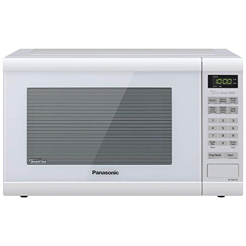 Panasonic Microwave Oven NN-SN651WAZ White Countertop with Inverter Technology and Genius Sensor, 1.2 Cu. Ft, 1200W (Renewed)