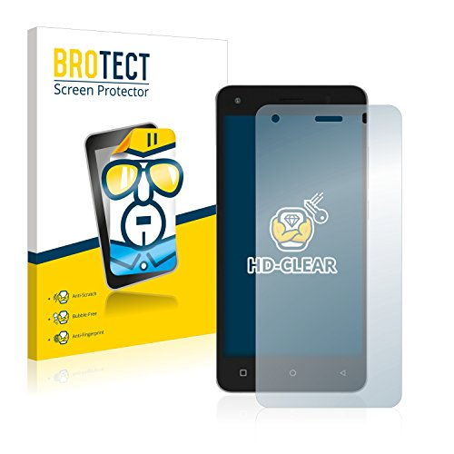 BROTECT Schutzfolie kompatibel mit Archos 50b Cobalt Lite (2 Stück) klare Bildschirmschutz-Folie