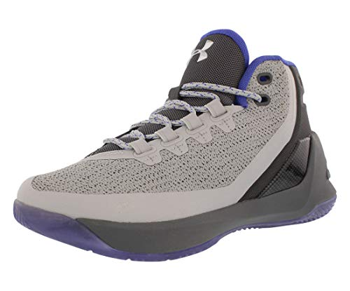 Image of the Under Armour Boys Curry 3 Basketball Shoe (Grey/Purple, Numeric_7)