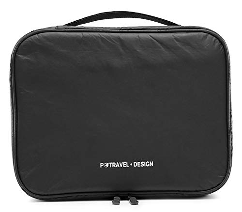 Tuscall Travel Toiletry Bag Hanging Wash Bag Large Womens Cosmetic Bag (Tyvek Black)