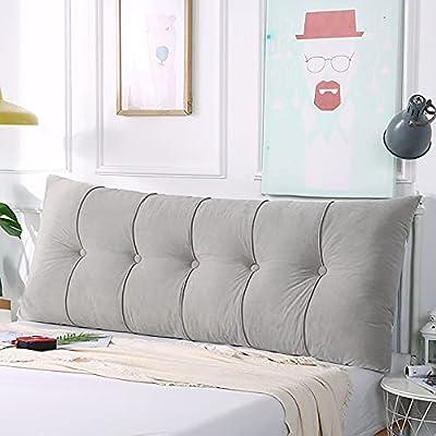 HERMOSA ALMOHADA DECORATIVA PARA EL LADO DE LA NOCHE: esta almohada de lectura con cabecera tapizada se puede utilizar como un reemplazo alternativo.Su elegante diseño agregará una vista atractiva a su dormitorio. Con su apariencia atractiva, esta or...