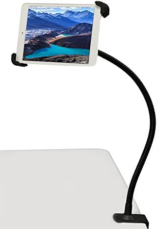 "iShot G10 Pro 360° iPad Universal Tablet Goose-Neck Seat Bed Desk Table Counter-Top Kitchen Photo Booth Clamp Mount Stand and Holder Bracket - Compatible with iPad & 7-11"" Tablets"