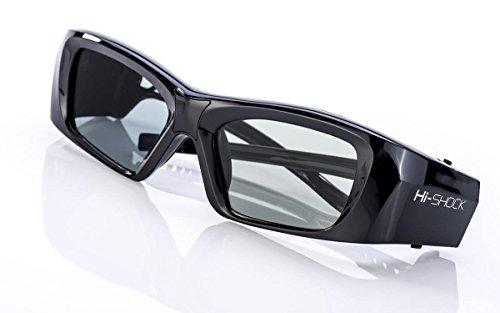 2X Hi-SHOCK® RF / BT Pro Black Diamond & Dualcase | Aktive 3D Brille für EPSON 3D Beamer | komp zu ELPGS03, TW9200W, EH-TW9200, EH-TW9100W, EH-TW8100, EH-TW7200 [120 Hz wiederaufladbar]