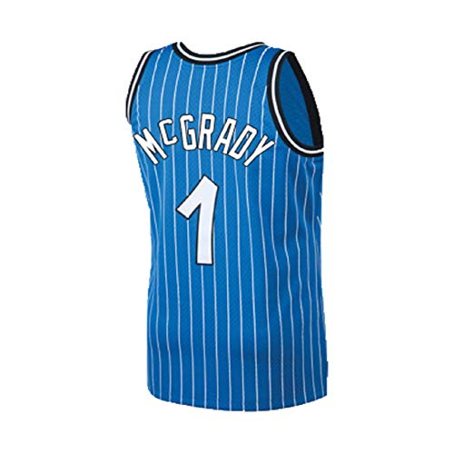 Noosbre Men's McGrady Jersey Tracy Athletics Jersey Orlando Retro Basketball 1 Jerseys Blue(S-XXL) (M)