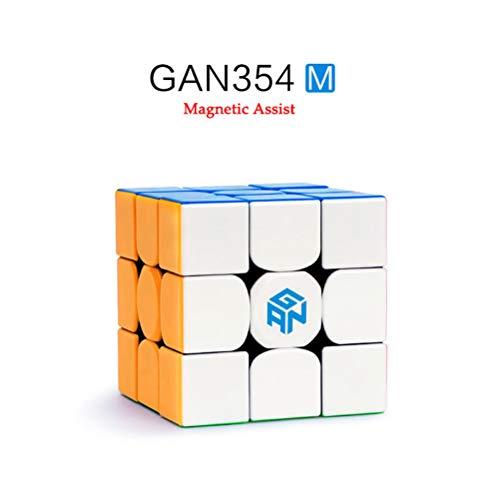 Leeec Geschwindigkeitswürfel (Magnetic Assist) Puzzle Rubik's Cube 2x2 / 3x3 / 4x4 (glatt, einfacher zu erholen),3×3