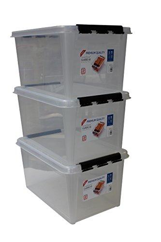 Orthex Clipbox Smart Store Classic 70/Transparent avec roulettes 3530170