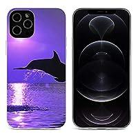 イルカ Dolphin iPhone 12&iPhone 12 Pro&iPhone 12Pro Max&iPhone 12 miniと互換性のあるクリスタルクリアTPUケース、アンチイエロー、保護耐衝撃落下保護ケース