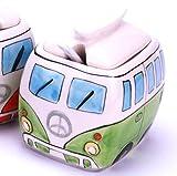 24 7sale Camper Bus Zuckerdose/Zucker Pott aus Keramik, Farbe wählbar Rot Blau Grün Orange (Gruen)