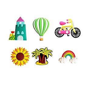 UPKOCH aimants pour réfrigérateur pour enfants aimants pour réfrigérateur autocollants pour tout-petits jouet éducatif pour tableau noir tableau blanc enseignement 6 pcs