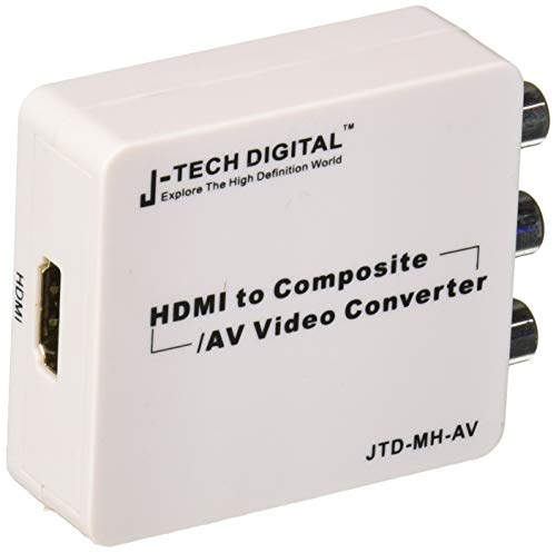 J-Tech Digital JTD-MH-AV Mini HDMI to Composite AV CVBS R/L HD Video Converter