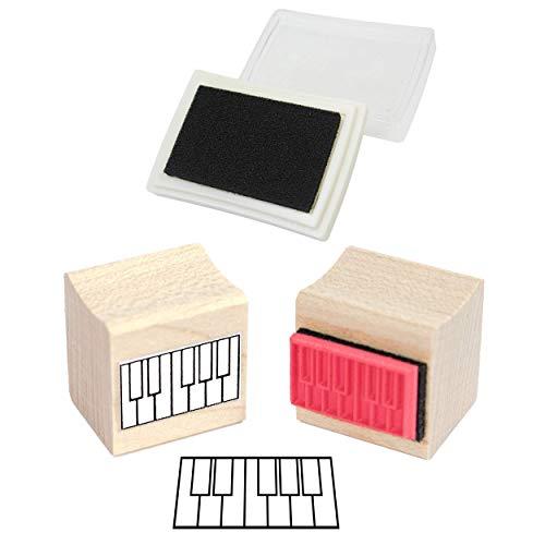 Pad und Mini Piano Diagam Gummistempel