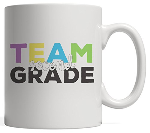 DKISEE Team tweede klas mok - terug naar de basisschool cadeau voor docent of 2e klassers studenten toekomstige derde klas 11oz Kleur: wit