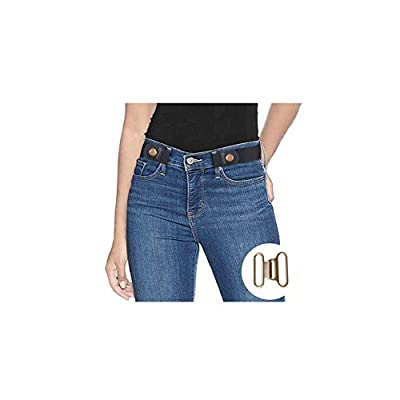 Stretch Belts for Women No Buckle Invisible Belts for Men and Women Black