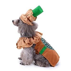 Pet Costume Puppy Latte Costume Christmas Coffee Dog Cat Costume