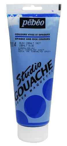 Pébéo Peinture Gouache 1 Tube de 220 ml Bleu Cobalt