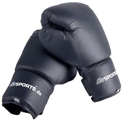 ScSPORTS Boxhandschuhe Kunstleder 12 oz schwarz