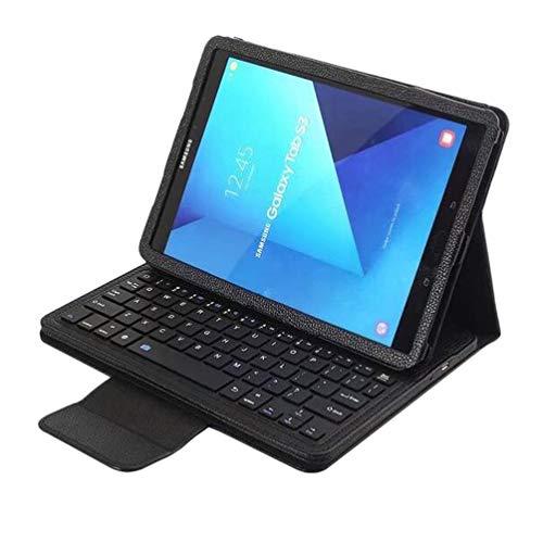 Solustre - Funda de Teclado para Samsung Galaxy Tab S3 de 7 Pulgadas T820 y T825 (Rosa) Negro Negro
