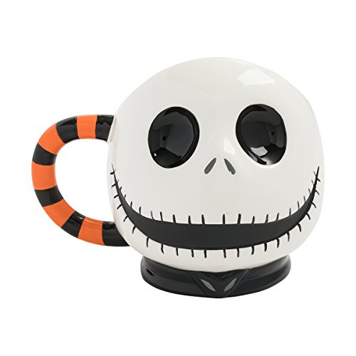 Jack Skellington Head Sculpted Ceramic Mug