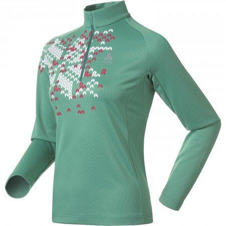Odlo Freeze Survêtement à col Montant et Demi-Zip pour Femme Multicolore Vert/Blanc XL