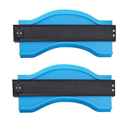 Mozusa 2x plástico contorno Gauge copiadora perfil for el perfil de medidores Por conducto Winding tubos circulares Marcos 250mm