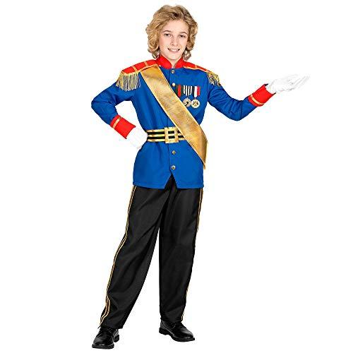 WIDMANN 00175 - Disfraz de príncipe encantador para niños (116 cm), color azul y negro , color/modelo surtido