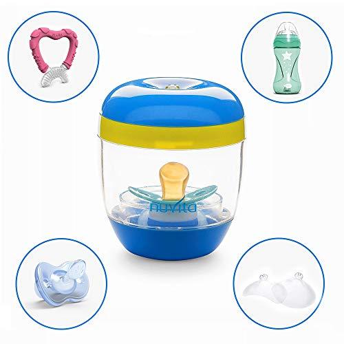 Nuvita 1556 MellyPlus Sterilizzatore UV per Ciuccio, Paracapezzoli e Tettarelle per Biberon - Elimina 99.9% di germi e batteri – Senza BPA – Design Italiano