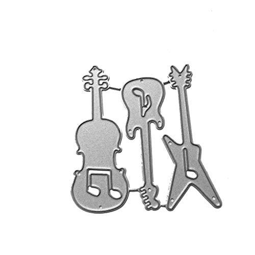 Haijun Stanzschablonen Stanzschablone Gitarre Metallschneidwerkzeuge Schablone DIY Scrapbooking Album Stempel Papierkarte Prägung Handwerk Dekor