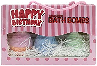 Bath Bombs - Happy Birthday - 3 Large cupcakes make a great gift.