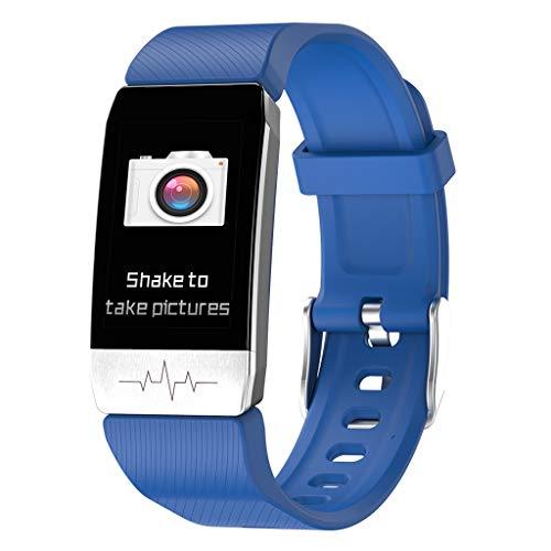 BIlinli T1 Fitness Tracker Körperthermometer EKG Smart Armband Herzfrequenzmesser Oximeter Smart Watch Musiksteuerung Sport