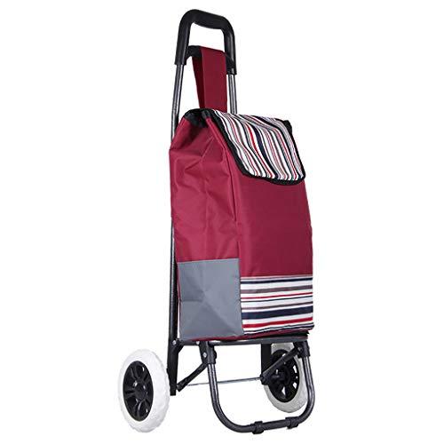 lcc Carrito de Compras Carro para Subir escaleras Dolly Carrito Carrito Plegable Carro con Ruedas rodantes Bolsa de Empuje Condominio Apartamento Picnic Beach Viaje Carrito de Utilidad portátil