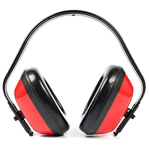 SHC-5815 Casque anti-bruit réglable pour adultes, antichoc, protection auditive réglable pour tir, construction, travail de cour, feu d artifice (rouge)