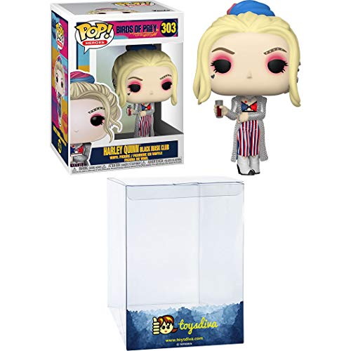 Harley Quinn [Black Mask Club]: Funko Pop! Heroes Vinyl Figure Bundle with 1 Compatible 'ToysDiva' Graphic Protector (303 - 44369 - B)
