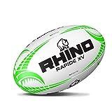 Rhino Rapide Blanc Ballon de Rugby XV Large Blanc/Vert