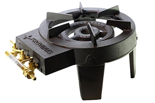 PROWELTEK – Fornello a Gas, 3 rubinetti, ghisa, 4 Piedi