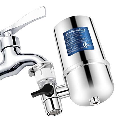 Riserva Filtro Acqua Rubinetto(Elimina Cloro, Metalli Pesanti, Pesticidi), Slickbox Acqua con Materiale Ultra Adsorptive Fits Standard rubinetti Faucet Filters,Acciaio Inossidabile Materiale