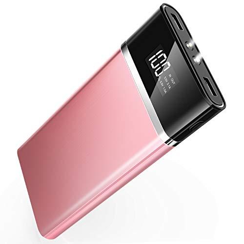 モバイルバッテリー 大容量 24000mAh 急速充電 2USBポート 【PSE認証済】スマホ充電器 lcd残量表示 持ち運...