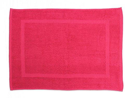 Soleil d'Ocre 477045 Tapis de Bain Coton Rose/Framboise 50 x 70 cm