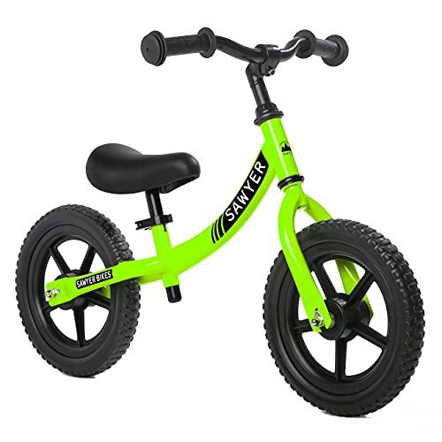 Sawyer - Bicicleta Sin Pedales Ultraligera - Niños 2, 3, 4 y 5 Años (Verde)
