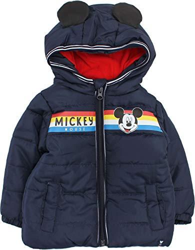Disney Mickey Mouse Smiles Veste d'hiver pour bébé garçon - Bleu - 12 mois