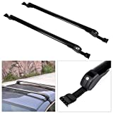 cciyu Cargo Racks for Ford Edge 2007-2016,for Ford Escape 2001-2016,for Ford Fiesta 2011-2016 Rooftop Luggage Canoe Kayak Carrier Rack Black Roof Rack Cross Bar - Fits Naked Roof Models ONLY